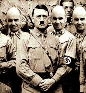 The picture featuring Richard Delingpole and Adolf Hitler