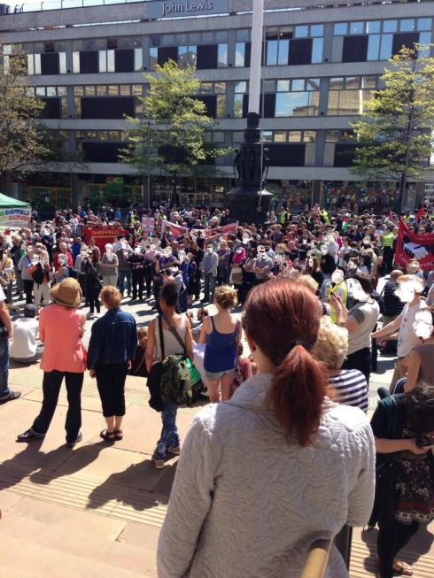 Anti-Fascists in Sheffield today