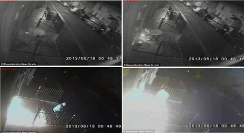 CCTV stills from the attack