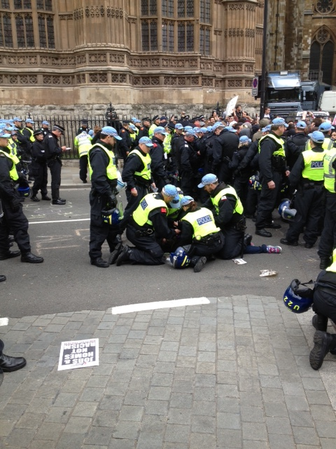 Arrests at the BNP protest