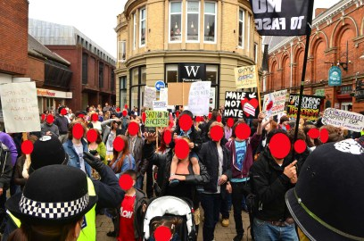 Last time the East Anglian 'Patriots' had a demo in Lincoln, back in June, they were opposed by a resolute crowd of locals, showing they were not welcome.